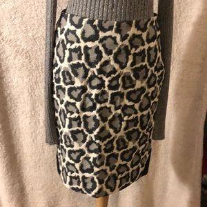 NWT DIANE VON FURSTENBERG Leopard Pencil Skirt